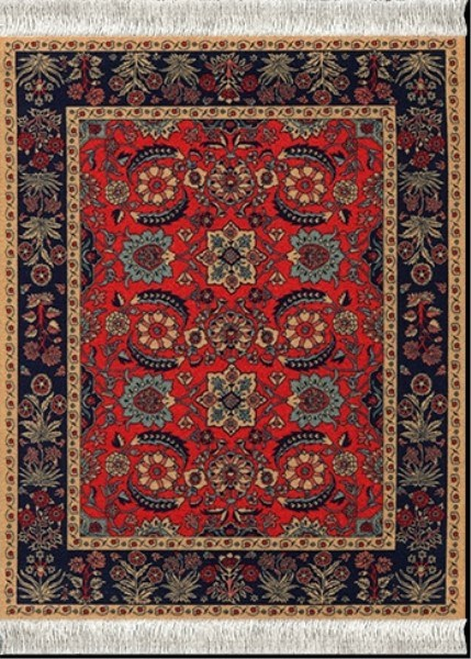 Mouse Rug - Pashmina Flower (mouse pad)