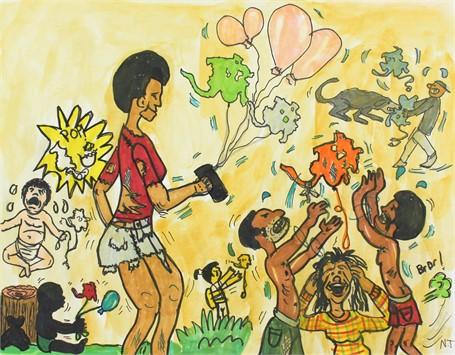 Cincinnati Poppin' Balloons (FRAMED)