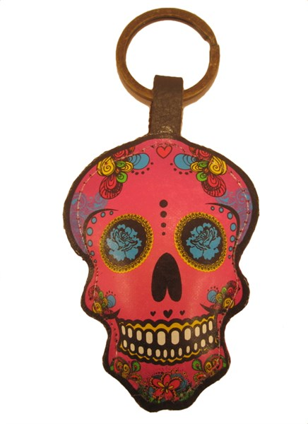 Keychain - Leather Catrina Fuchsia