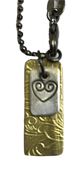 Necklace - Double Charm with Love Symbol