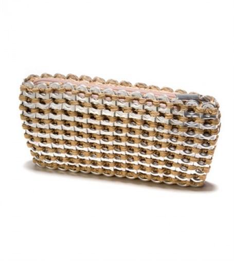 Mini Clutch - Bamboo Crocheted Pull Tab