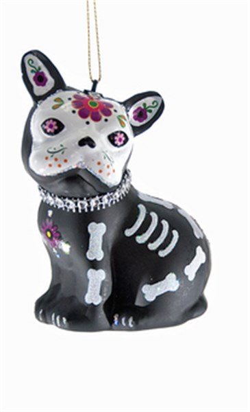 Ornament - Day of the Dead Sugar Skull Dog
