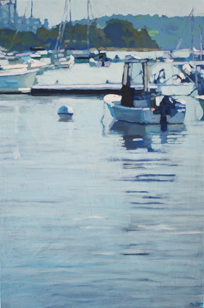 "Liz Hoag | Harbor | Acrylic | 36"" X 24"" 