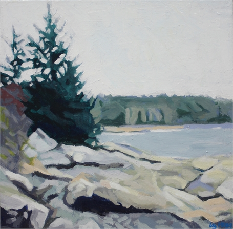 "Liz Hoag | Another Shore | Acrylic on Canvas | 12"" X 12"" 