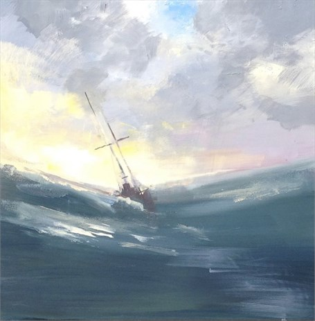 "Craig Mooney | Rough Seas | Oil | 24"" X 24"" 