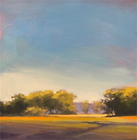 "Margaret Gerding | Morning Light-Day 10 | Oil on Panel | 8"" X 8"" 