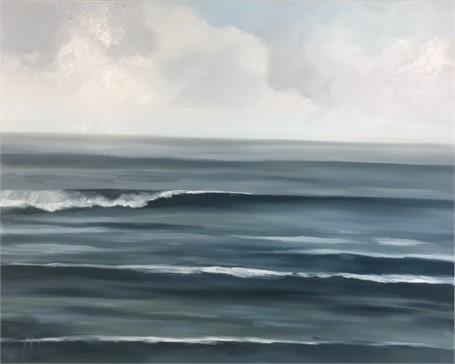 "Jill Matthews | Saphire Surf | Oil on Canvas | 48"" X 60"" | Sold"