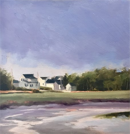 "Margaret Gerding | Morning Light-Day 7 | Oil on Panel | 8"" X 8"" 