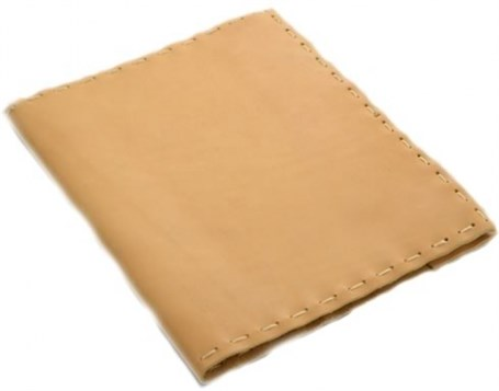 Leather Composition Cover Hand Stitched - Buckskin  RU03