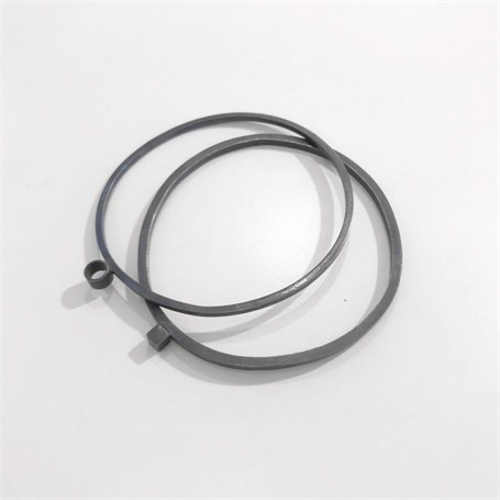Oxidized Sterling Silver Bracelet: Square Stock Bangle with Circle
