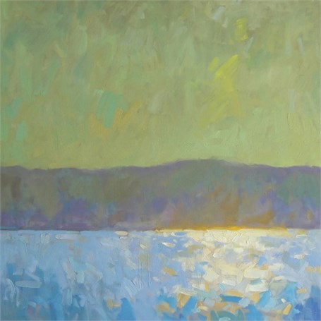 "Daniel J. Corey | Reflection Rising | Oil | 30"" X 30"" 