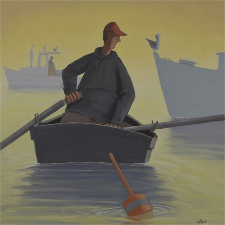 "David Witbeck | Morning Commute | Oil on Panel | 30"" X 30"" 