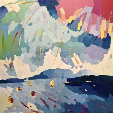"""Henry Isaacs   Between the Islands #2   Oil on Canvas   36"""" X 36""""   Sold"""