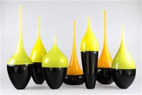 "Joseph Webster | Float Bottle - Green | Blown Glass | 21"" X 6"" | $450.00"