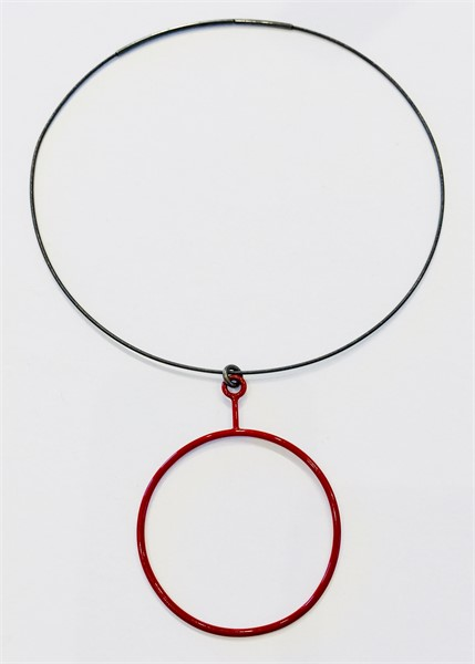 Necklace: Single Red Circle