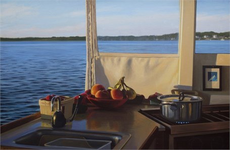 "William B. Hoyt | Topside Galley | Oil | 15"" X 23"" 