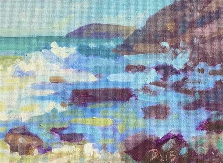 "Daniel J. Corey | Sand Beach | Oil | 5"" X 7"" 