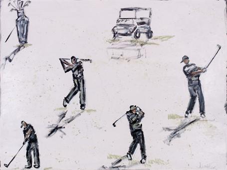 #522 Grey Golfers Foursome