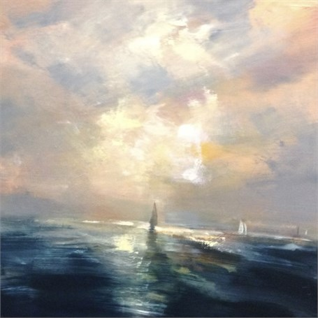 "Craig Mooney | Night Sail | Oil | 24"" X 24"" 
