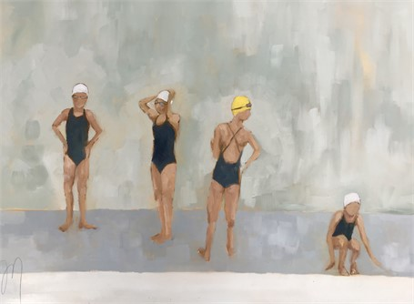 "Jill Matthews   Waiting   Oil on Canvas   30"" X 40""   Sold"