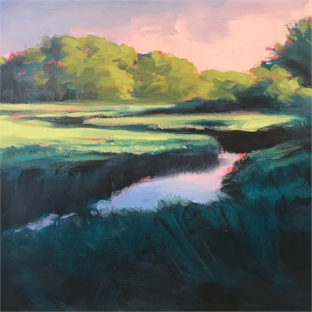 "Margaret Gerding | Morning Light-Day 12 | Oil on Panel | 8"" X 8"" 