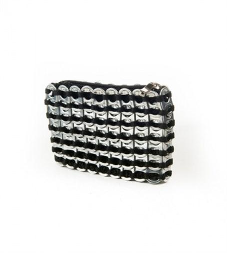 Credit Card Case Black - Crocheted Pull Tab