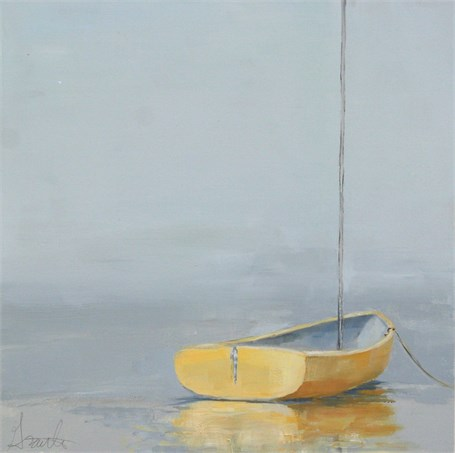 "Ellen Welch Granter | Sweet Yellow | Oil on Panel | 12"" X 12"" 