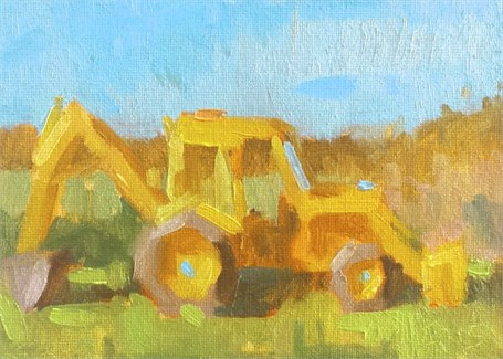 "Daniel J. Corey | Yellow on Yellow | Oil | 5"" X 7"" 