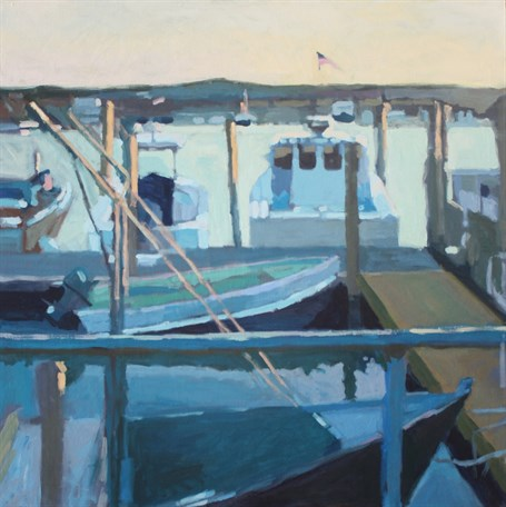 "Liz Hoag | Working Boats | Acrylic | 36"" X 36"" 