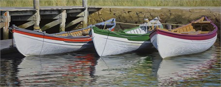 "William B. Hoyt | Whaleboats | Oil | 20"" X 50"" 