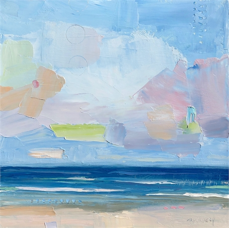 "Bethany Harper Williams | Sweet Candy Clouds  | Oil on Canvas | 16"" X 16"" 