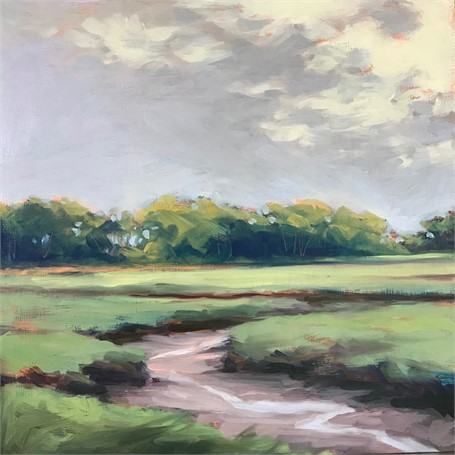"Margaret Gerding | Morning Light-Day 21 | Oil on Panel | 8"" X 8"" 