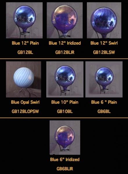 Gazing Globe - Punxsutawney Blue Iridized - 6