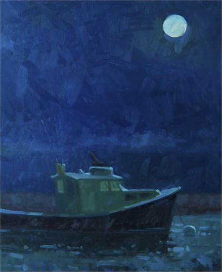 "Daniel J. Corey | Harvest Moon | Oil | 30"" X 24"" | Sold"