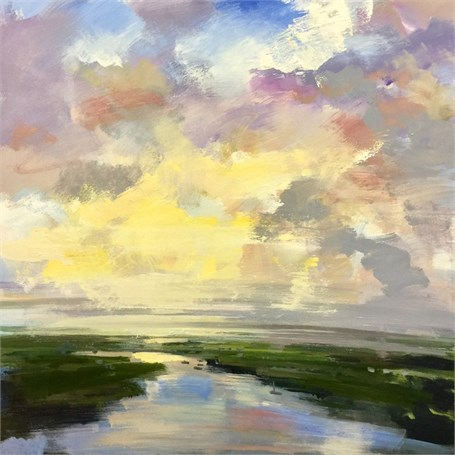 "Craig Mooney | Pale Morning Light | Oil on Canvas | 40"" X 40"" 