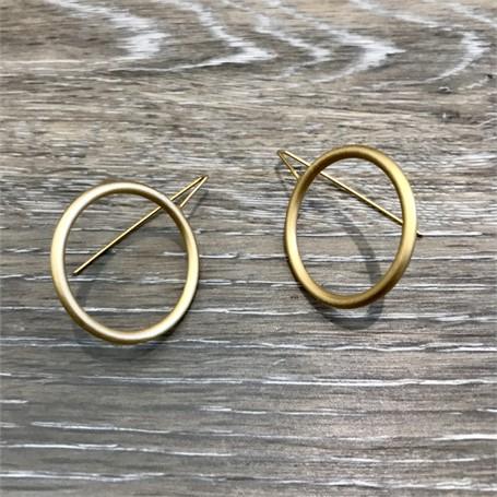 Gold Plated Earrings: Medium Circle
