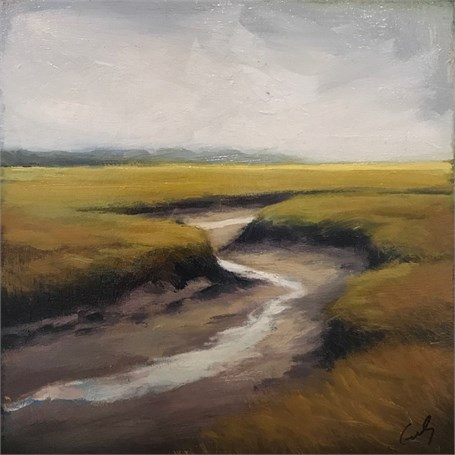 "Margaret Gerding | Low Tide | Oil on Panel | 10"" X 10"" 