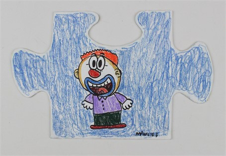 Clown Puzzle Piece
