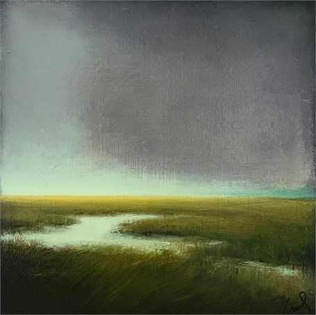 "Margaret Gerding | Night Approaching | Oil on Canvas | 10"" X 10"" 