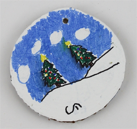 2 Trees/Christmas Bulbs (ornament)