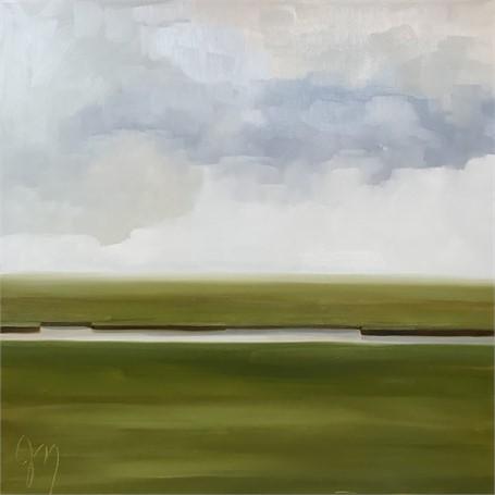 "Jill Matthews   Fragmented   Oil on Canvas   36"" X 36""   Sold"