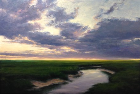 "Margaret Gerding | Summer Sunset | Oil on Panel | 40"" X 60"" 