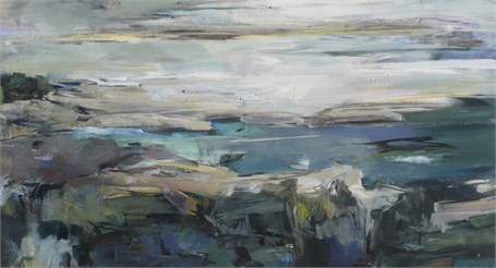 "Jeffrey T. Fitzgerald | Miles of Granite | Acrylic | 24"" X 44"" 
