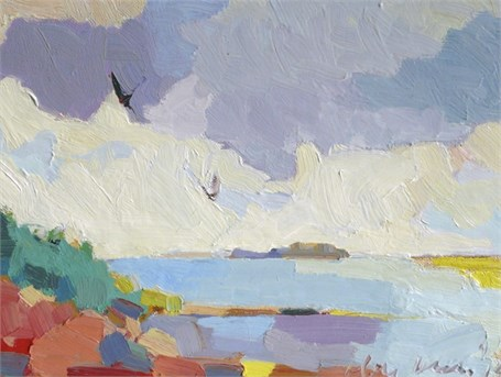 "Henry Isaacs | Finistere Coastline, Brittany | Oil | 9"" X 12"" 
