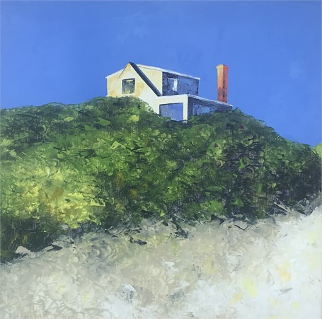 "Janis H. Sanders | A Beach House | Oil | 36"" X 36"" 