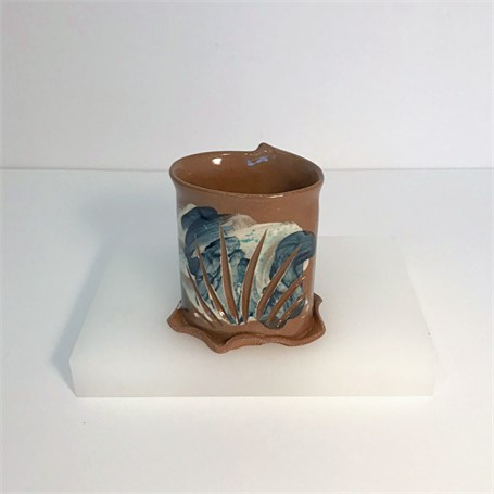 "Brendan Roddy | Tall Coastal Tumbler | Ceramic | 4.25"" X 3.25"" 