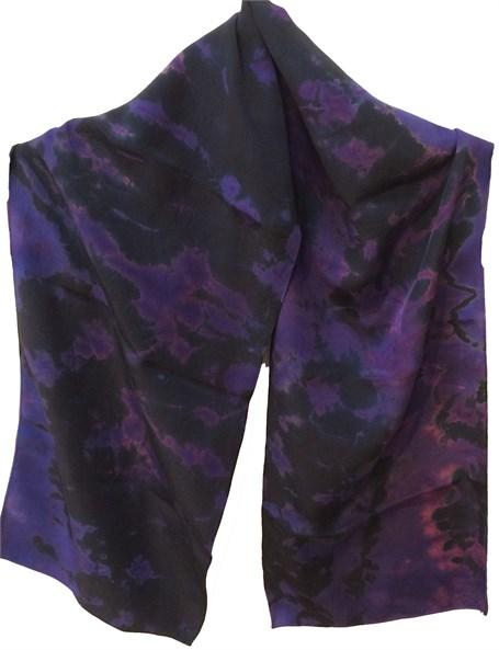 Scarf- Purple Reverse Shiboni Crepe #111