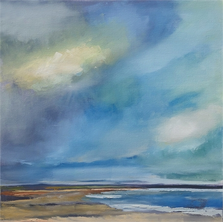 "Claire Bigbee | Beautiful Place By the Sea | Oil on Canvas | 24"" X 24"" 