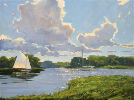 "Brad Betts | Clouds Over The Kennebunk River | Oil | 30"" X 40"" 