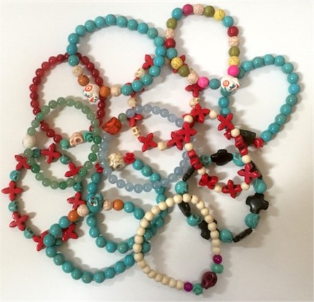 Bracelet - Beaded Day of the Dead Assorted